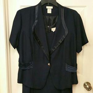 Dresses & Skirts - 2/$15 NAVY 2 PC MAXI FORMAL DRESS SIZE 24 W
